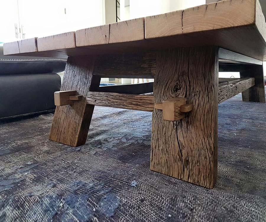 שולחן עץ מלא 2