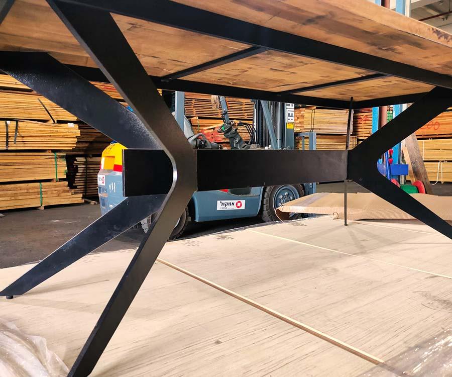 שולחן עץ מלא 6