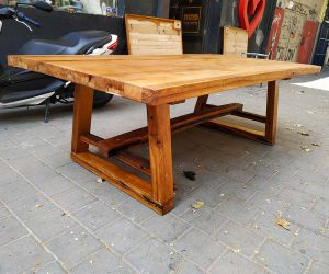שולחן עץ מלא 7